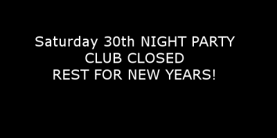 Closed So You Can rest for New year party!